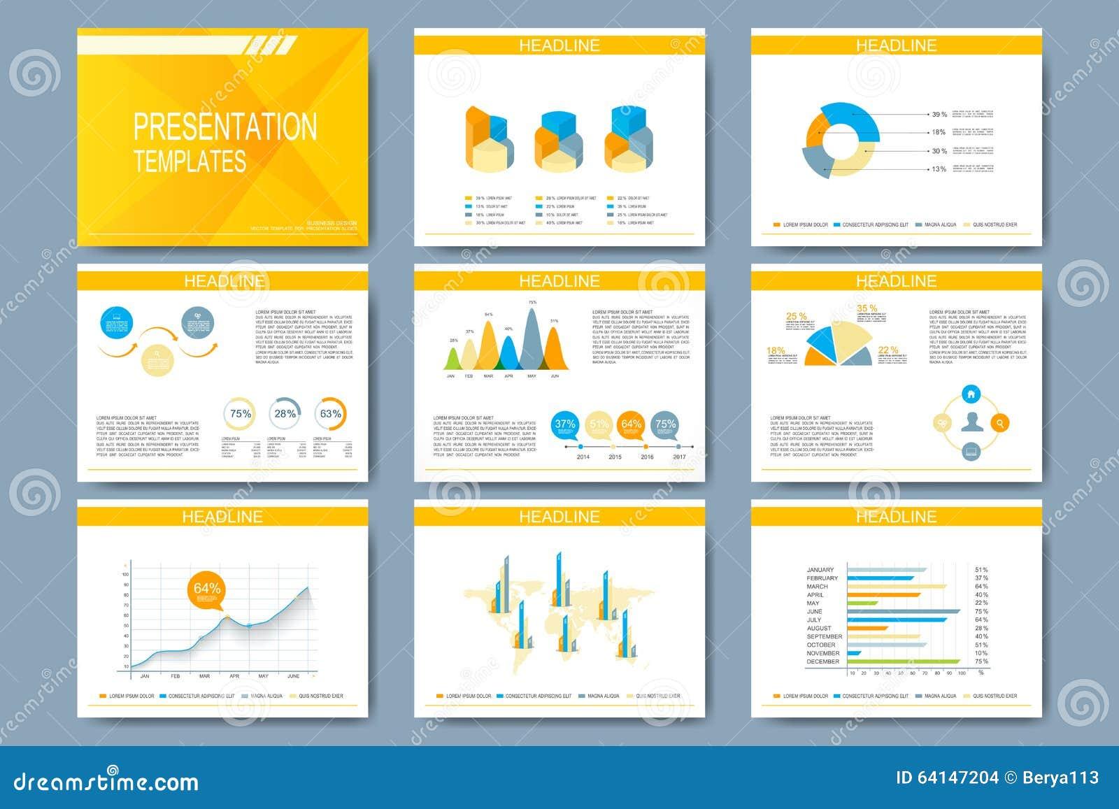 Sistema de la plantilla del vector para las diapositivas for Diseno de diapositivas