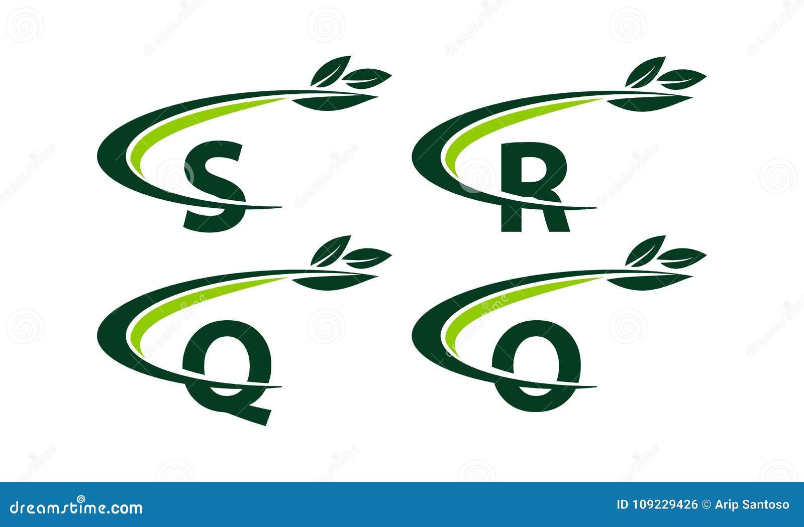 Sistema De La Plantilla De La Hoja De Swoosh Ilustración del ...