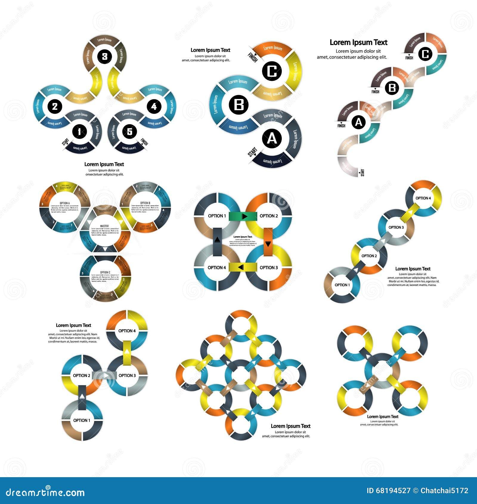 Sistema De La Plantilla Infographic De La Presentación Del Negocio ...