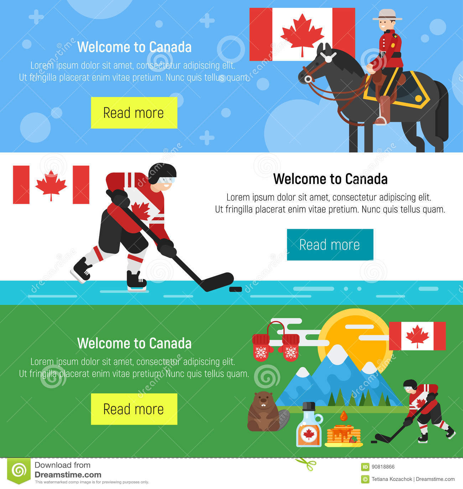 Sistema De La Recepción A La Plantilla De Canadá Para La Bandera O ...
