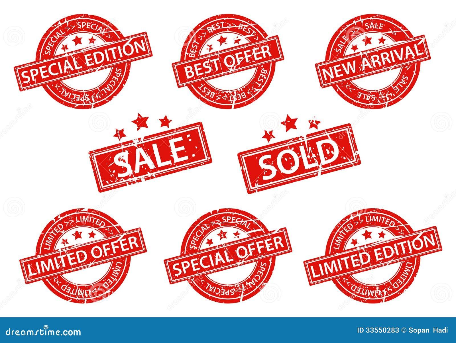 Sistema de la venta de los sellos de goma