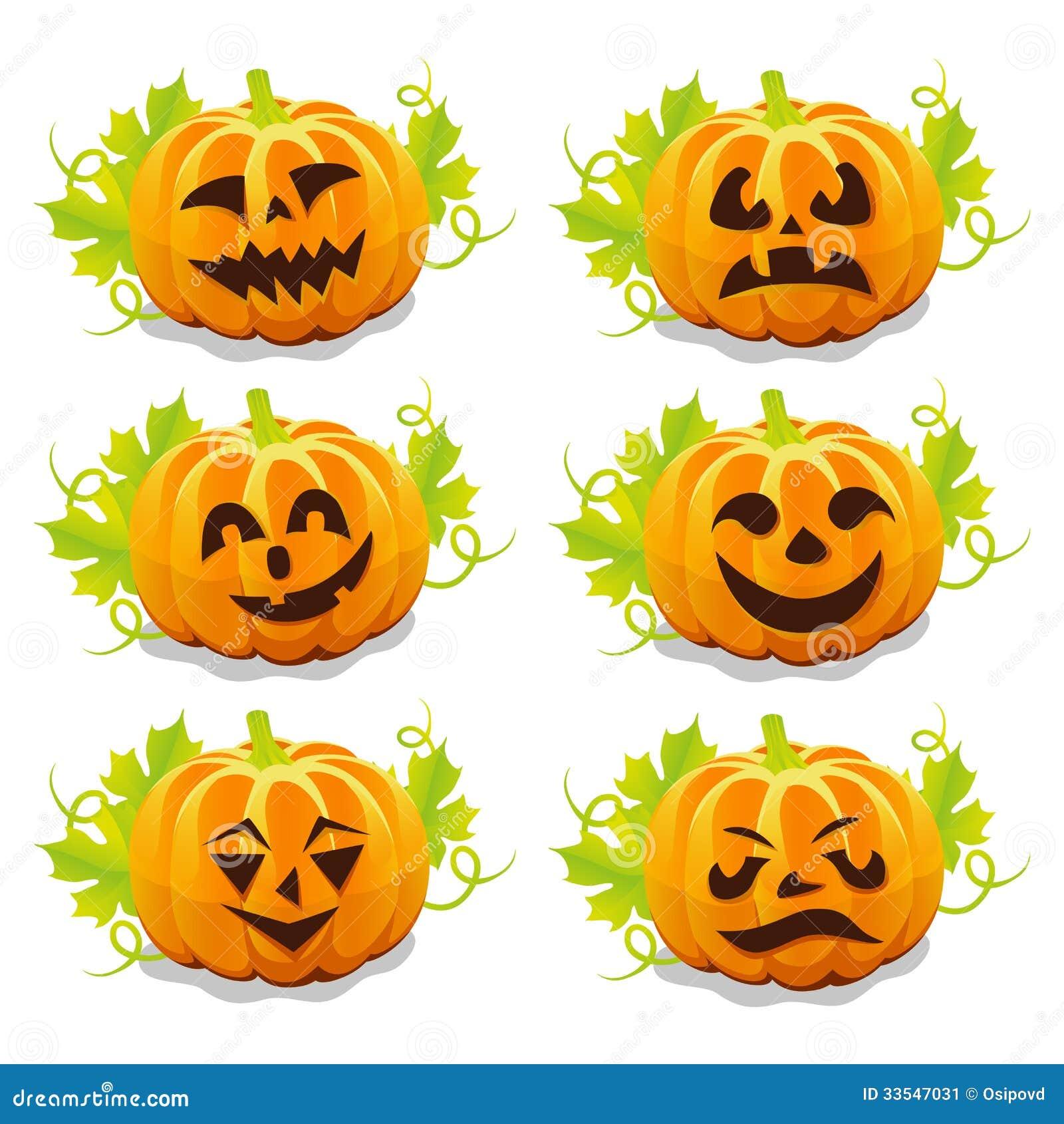 Sistema de las calabazas para halloween imagen de archivo - Calabazas halloween originales para ninos ...