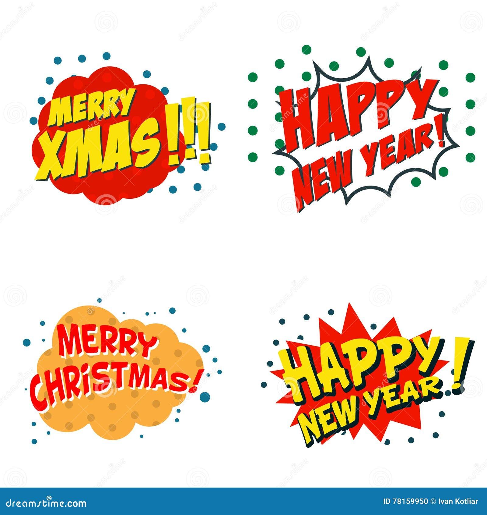 Sistema De Las Frases Cómicas Del Estilo Para Navidad Texto