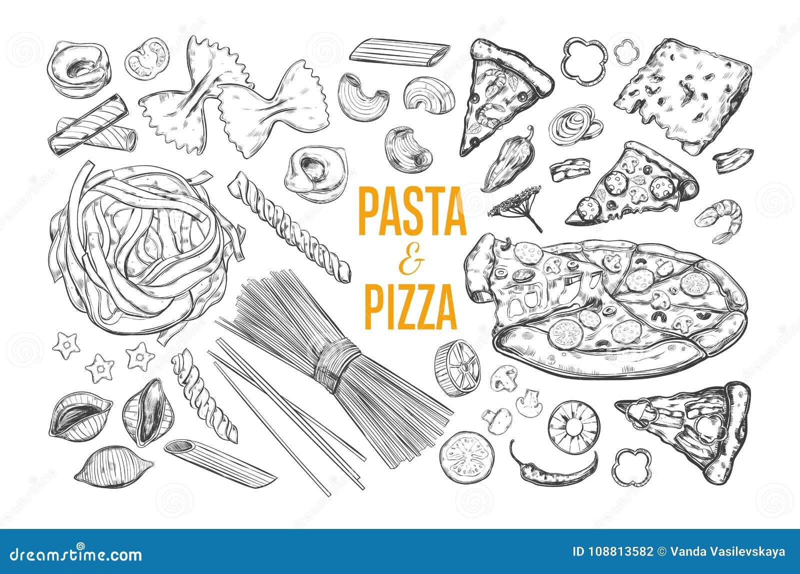 Sistema de las pastas y de la pizza
