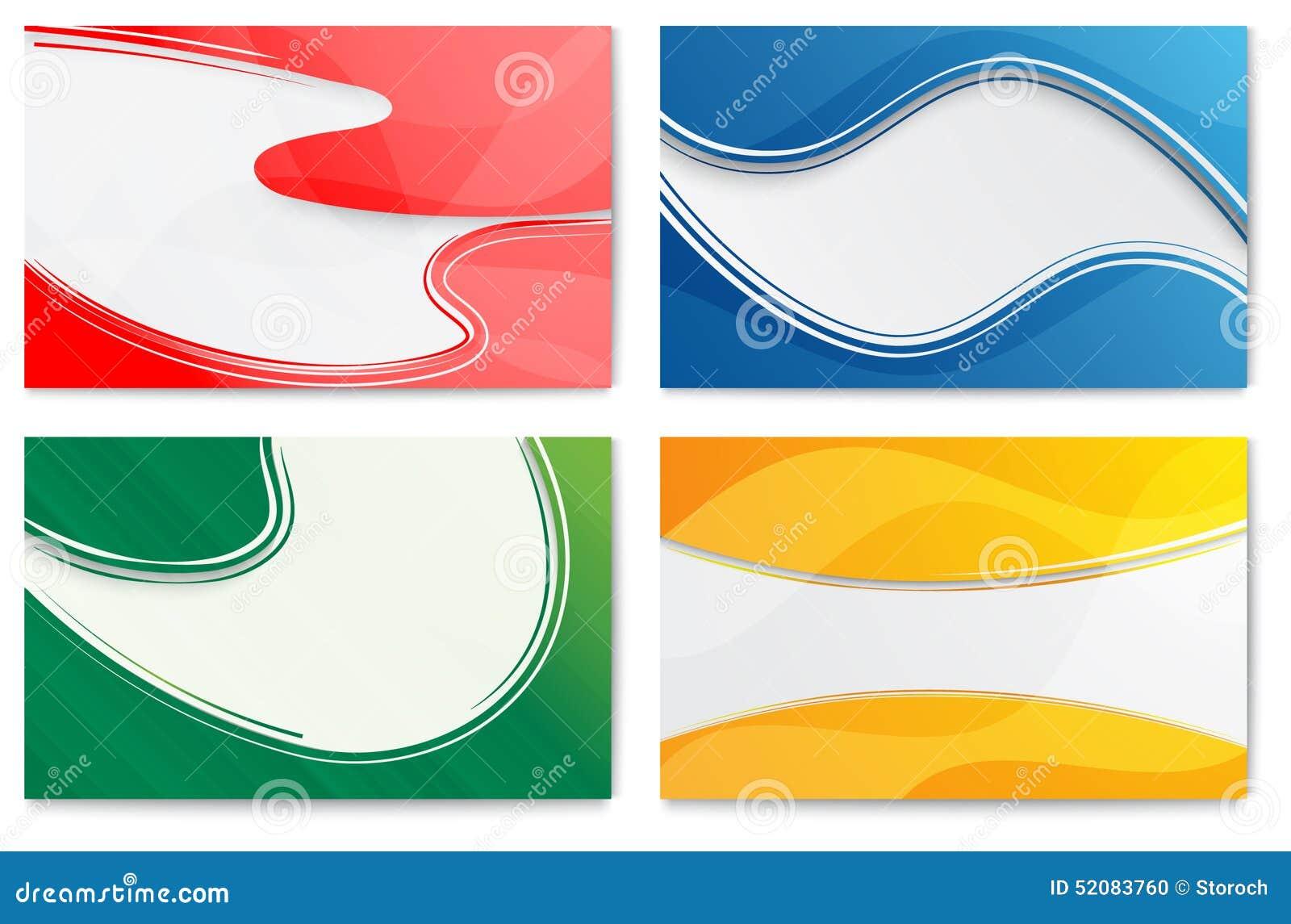 Sistema De Las Plantillas Abstractas Para Las Tarjetas Del Diseño ...