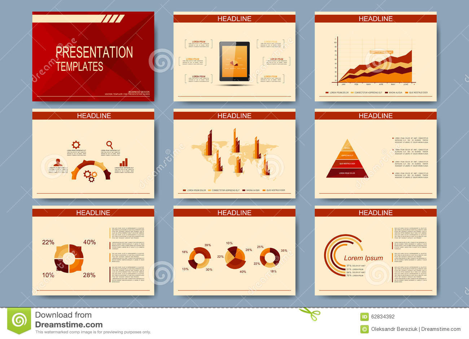 Sistema de las plantillas del vector para las diapositivas for Diseno de diapositivas