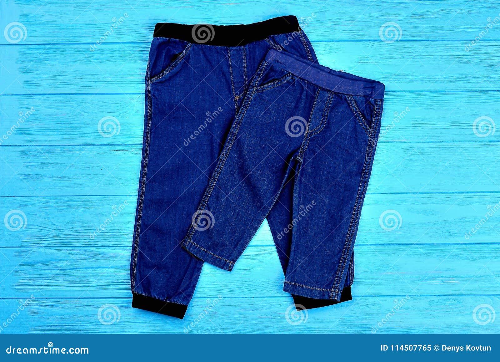 Sistema de las polainas de moda de la mezclilla para el niño