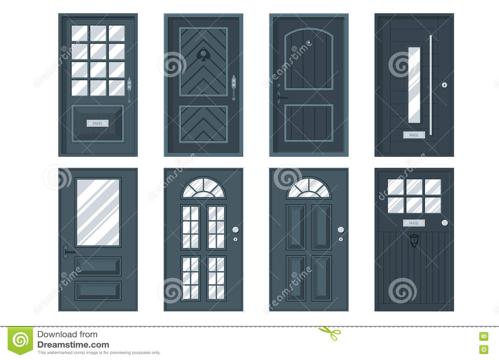 Sistema de las puertas principales detalladas para la casa for Precio de puertas para casa