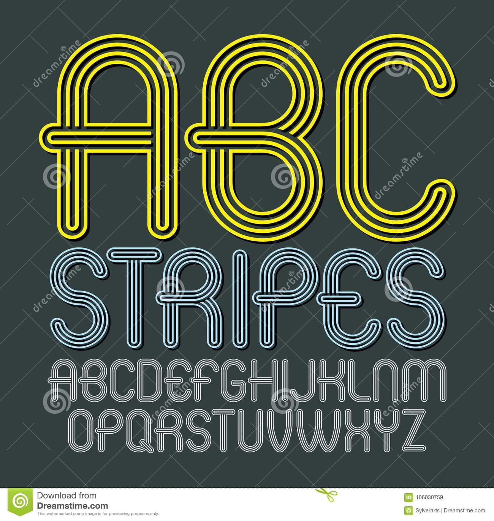 Sistema de letras capitales del alfabeto del vector moderno de moda, isolat del ABC