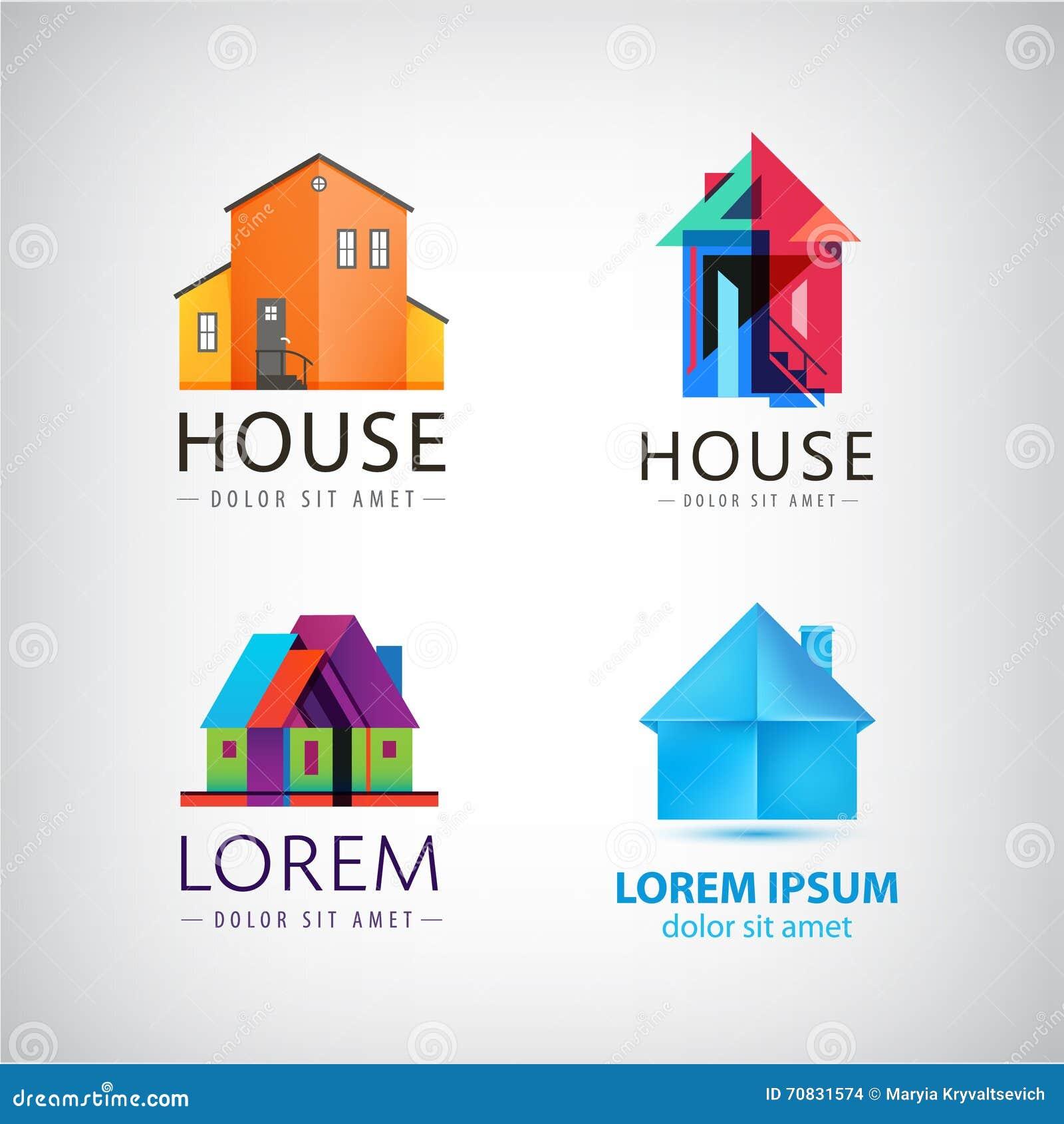 Sistema de logotipos de la casa propiedad propiedades for Inmobiliaria la casa