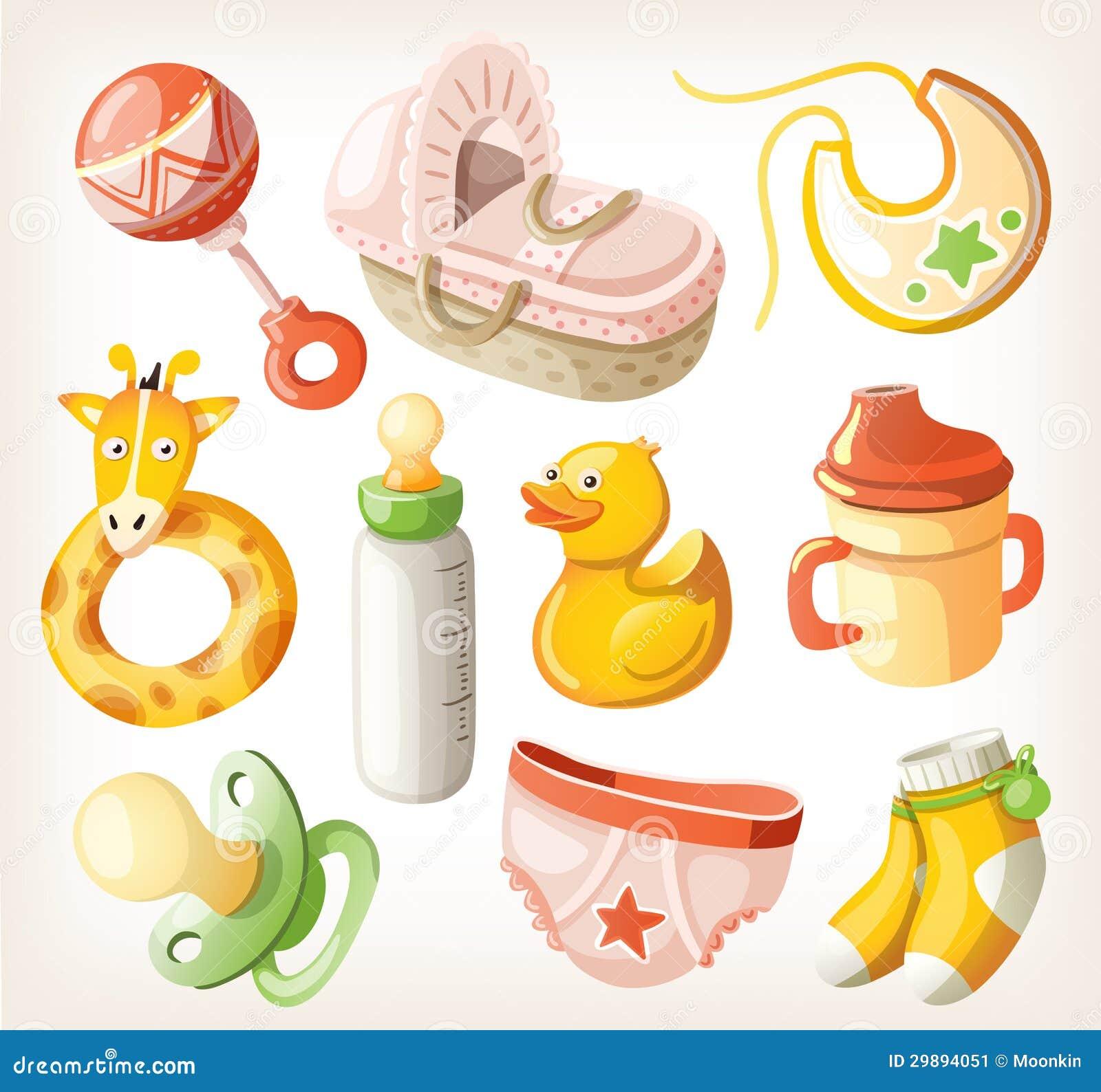 Sistema de los elementos del diseño para la fiesta de bienvenida al bebé