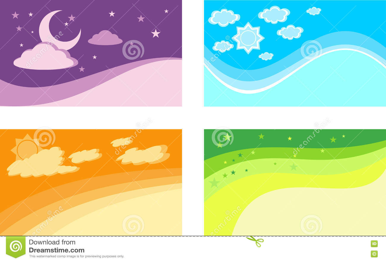 Fondos para tarjetas illustrator