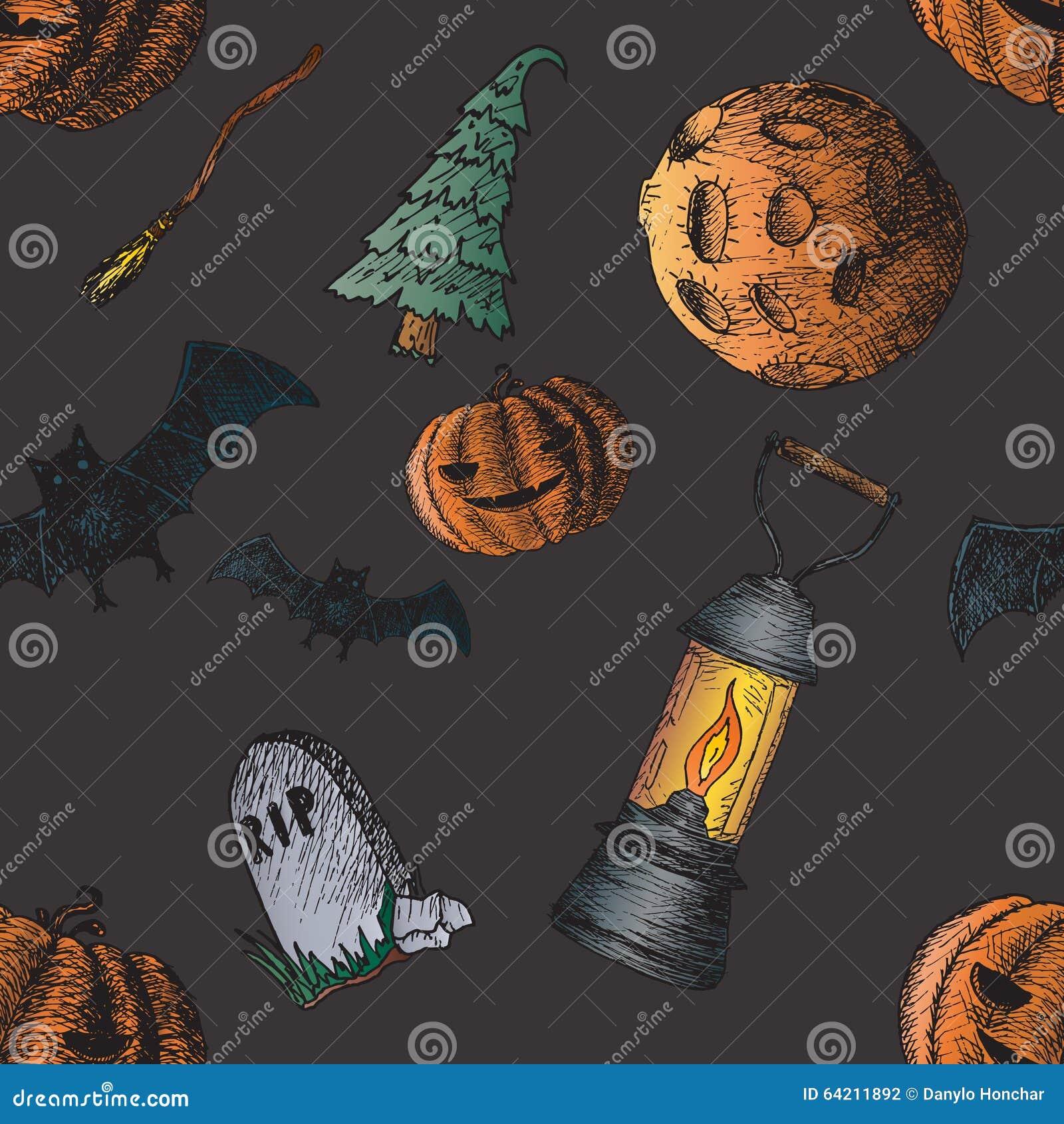 Sistema de los iconos para Halloween