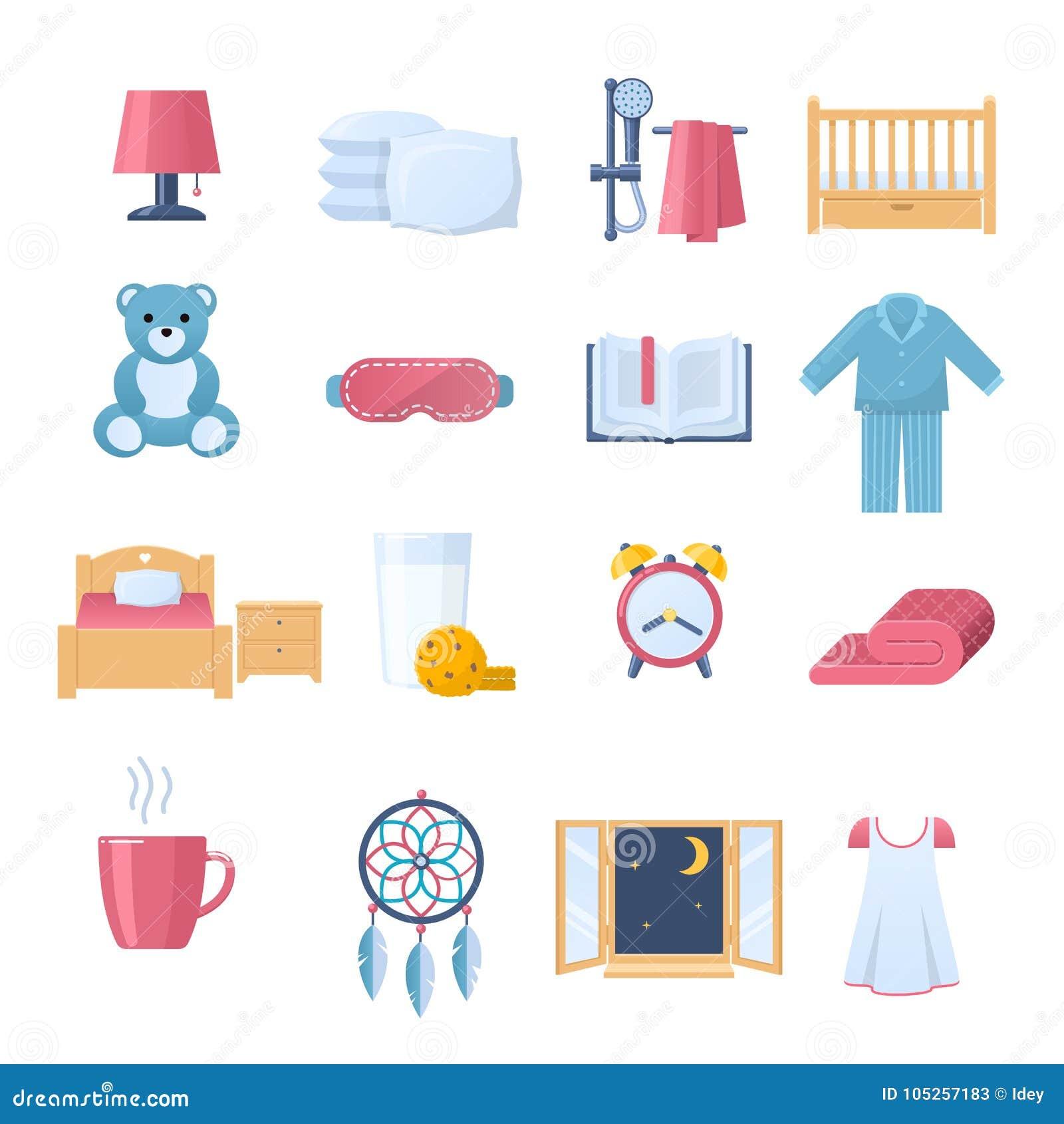 Sistema De Los Objetos Para El Sueño Hora De Dormir Muebles ...