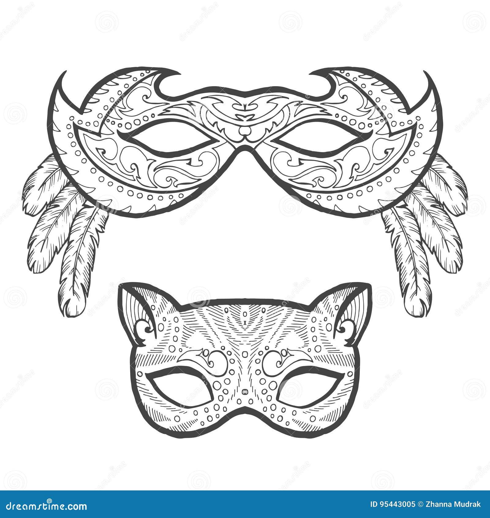 Perfecto Máscara De La Mascarada Para Colorear Inspiración - Dibujos ...