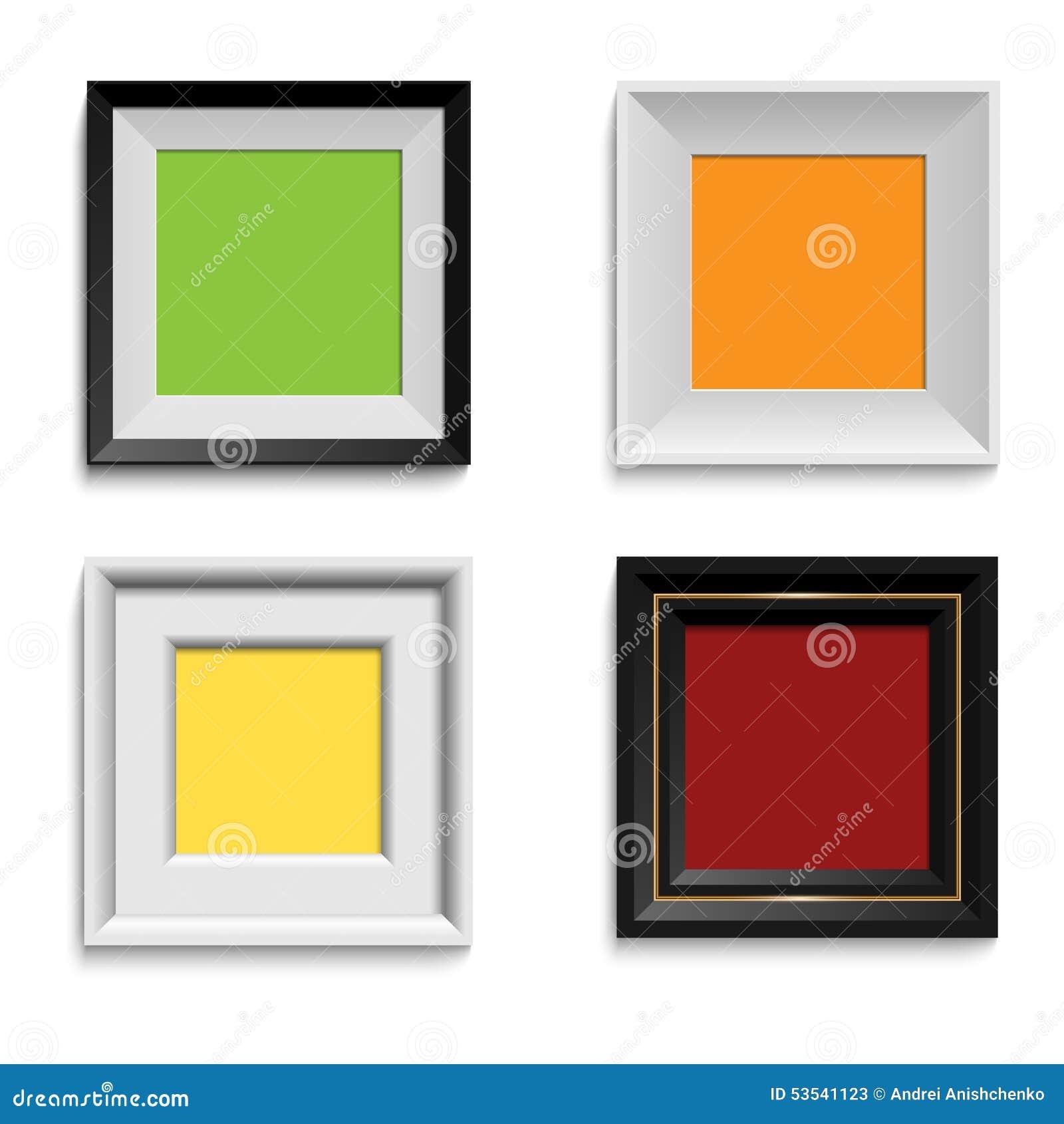 Sistema De Marcos Modernos Ilustracion Del Vector Ilustracion De - Marcos-para-fotos-modernos