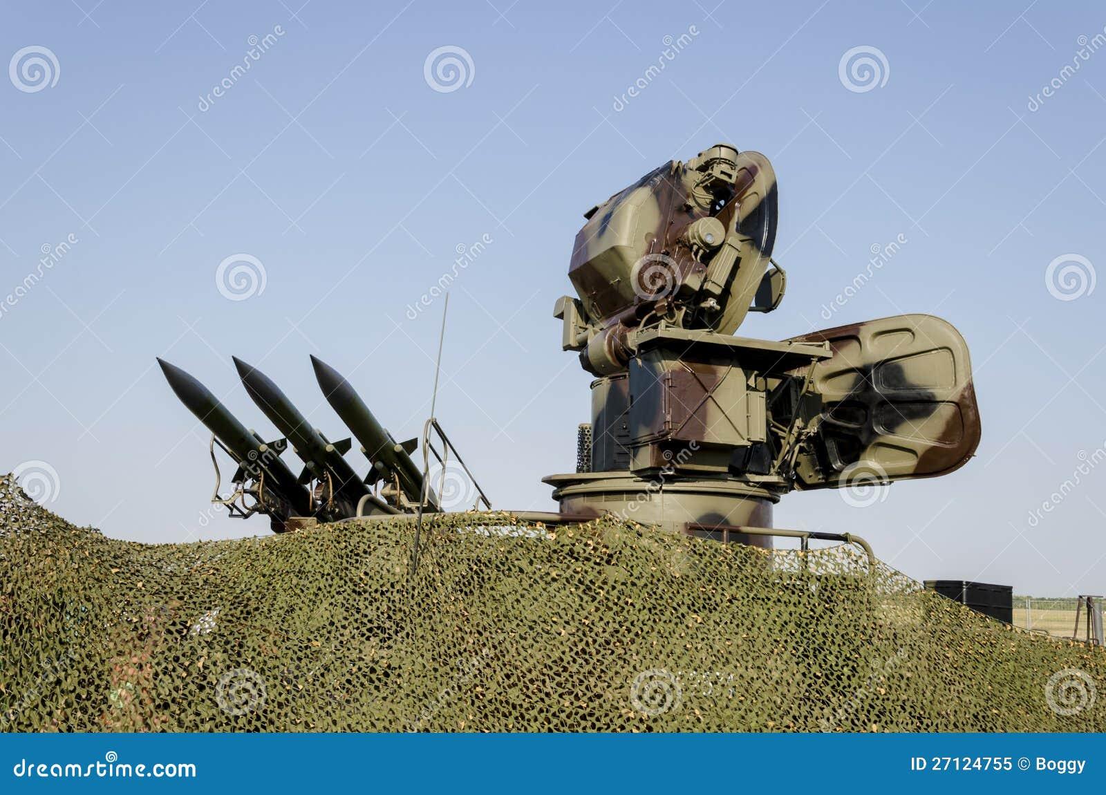 Sistema de misiles anti de los aviones