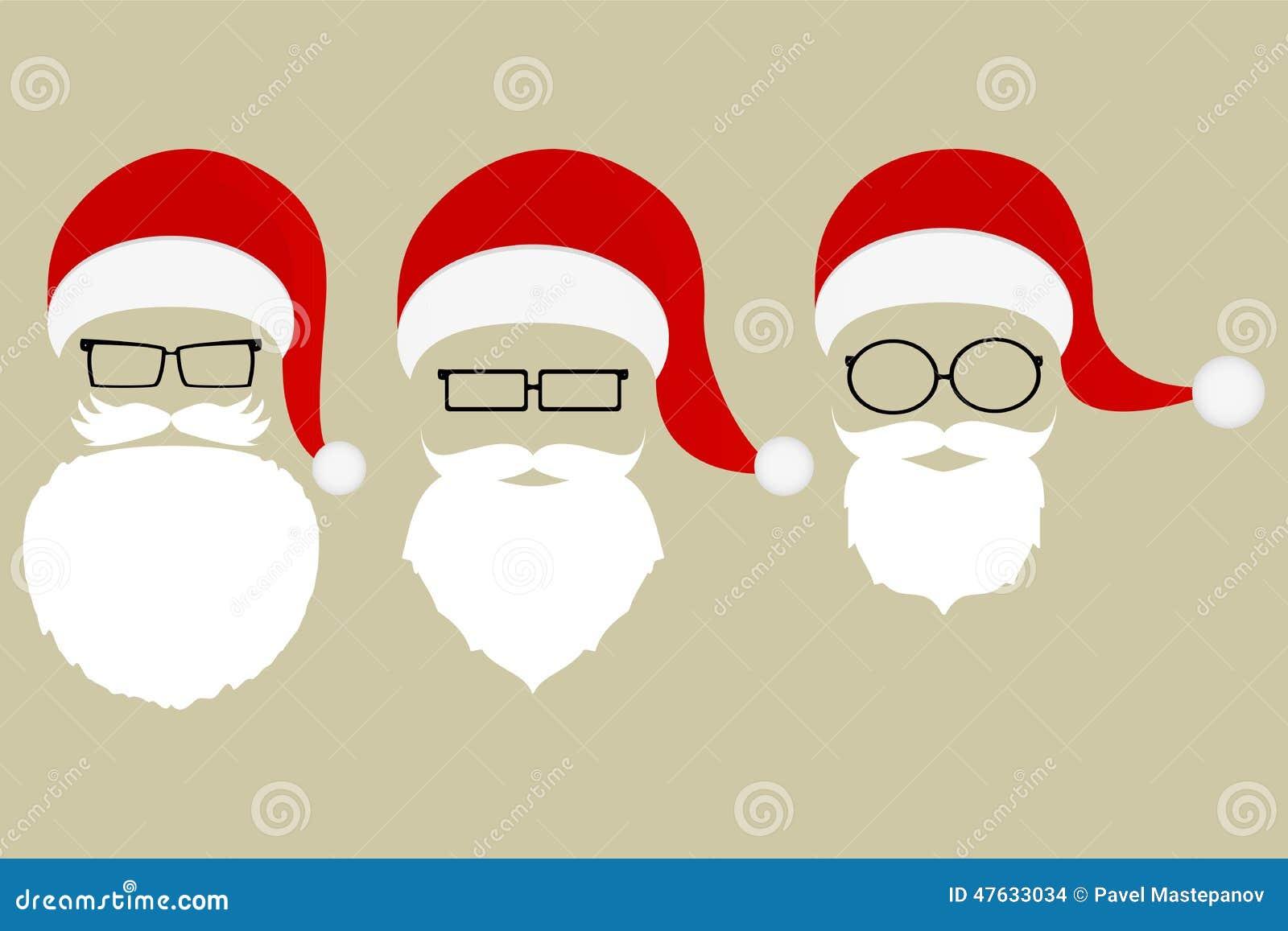 Sistema De Modelos De Santa Claus Ilustración del Vector ...
