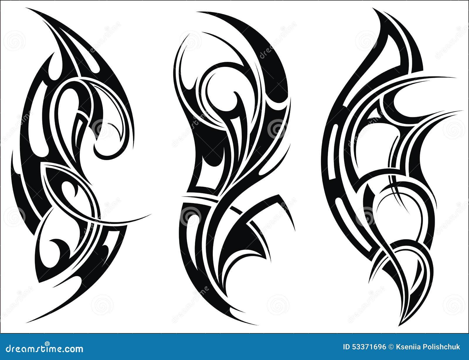 Modelos Del Sistema Tribal Del Tatuaje Ilustracin del Vector