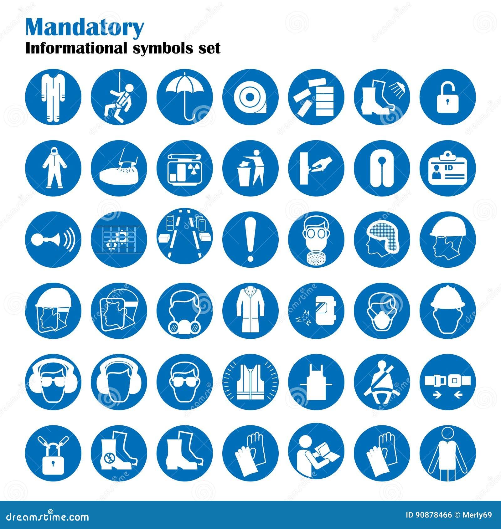 Sistema de muestras de la protección de la seguridad y sanidad Muestras obligatorias de la construcción y de la industria Colecci