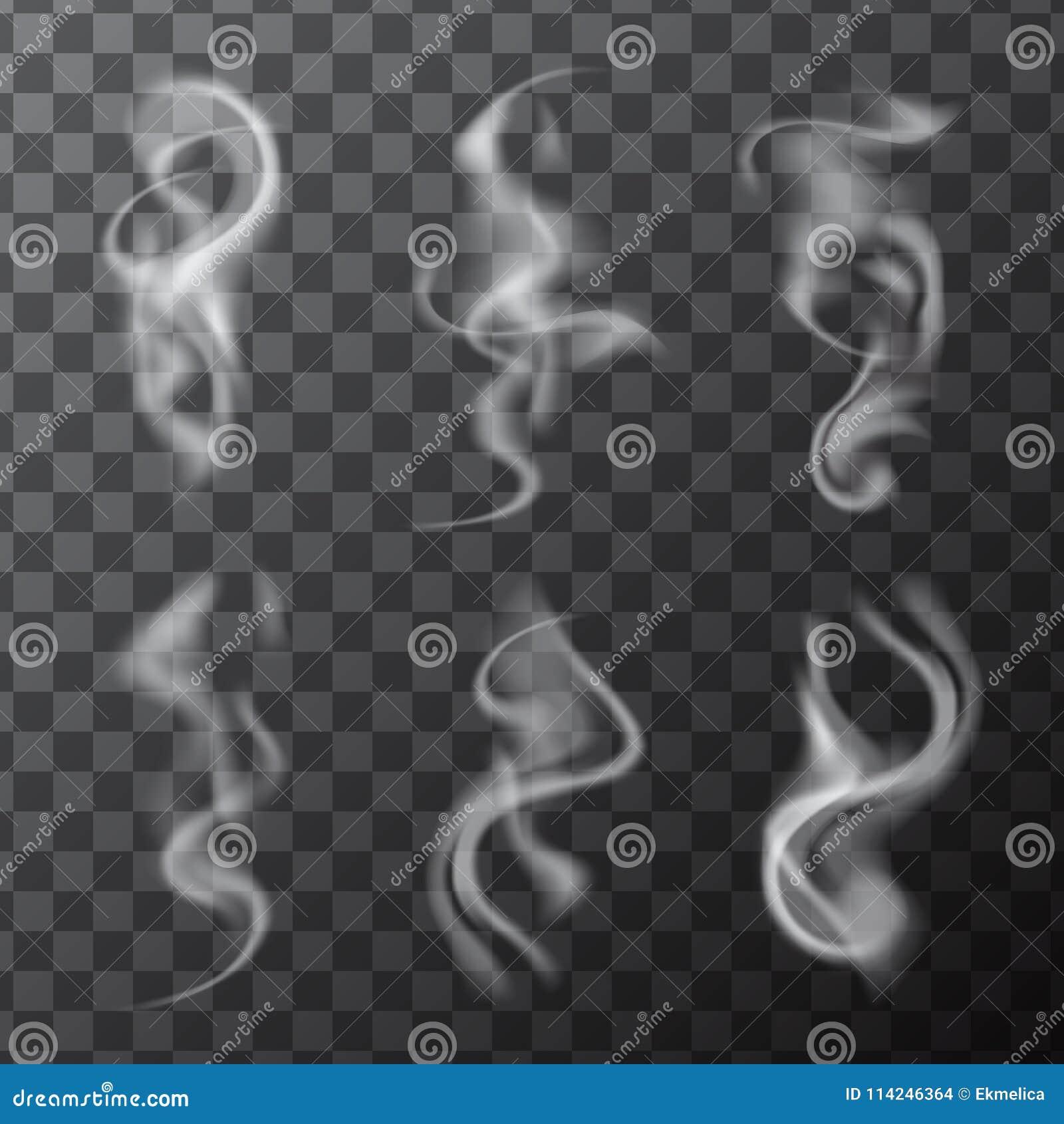 Sistema de ondas realistas delicadas del humo del cigarrillo