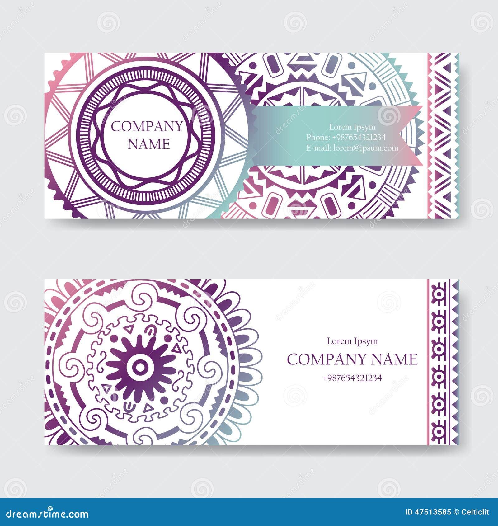 Sistema de plantillas de la tarjeta de visita o de la tarjeta de la invitación