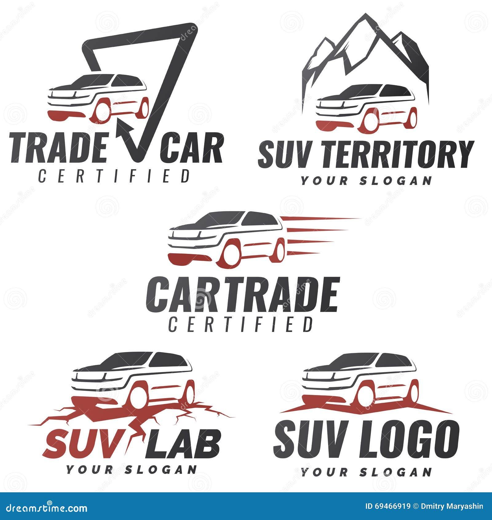 Sistema De Plantillas Del Logotipo Del Servicio Del Coche De SUV ...