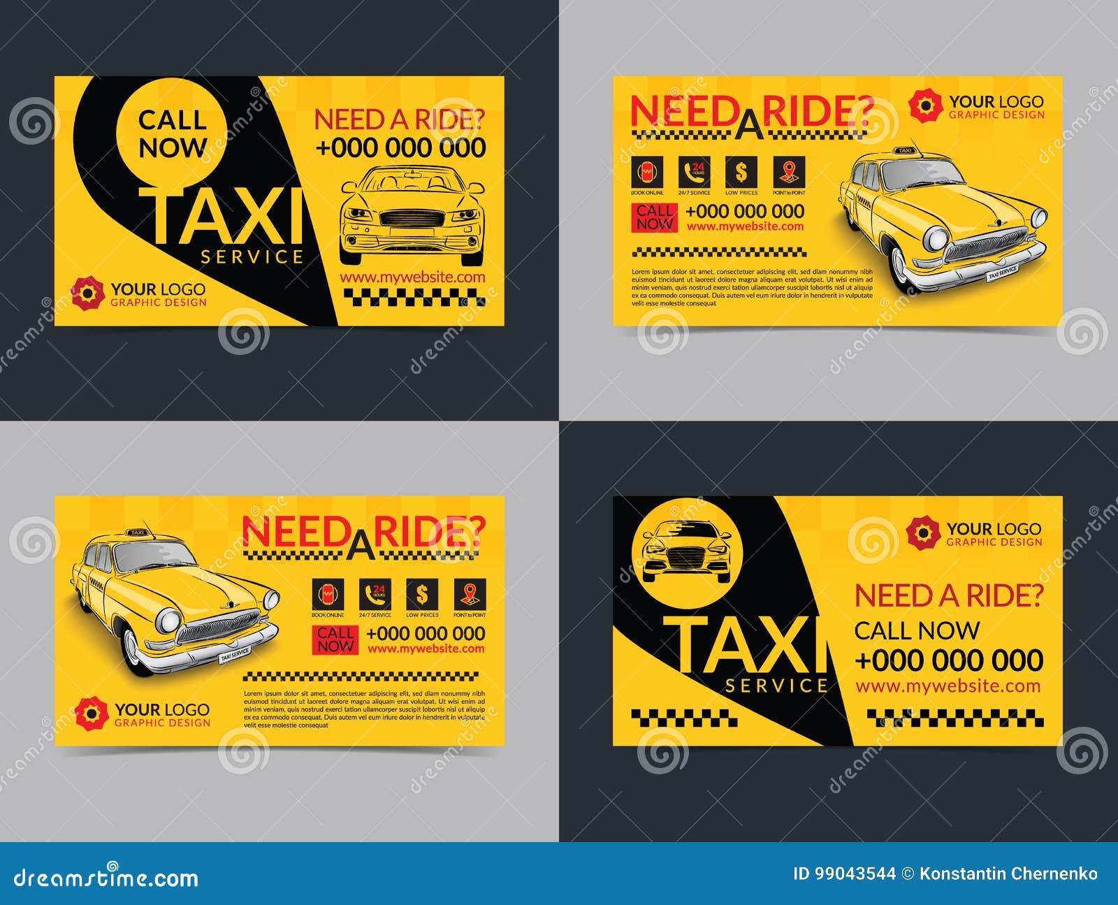 cf6ed70cb23a8 Sistema de plantillas de la disposición de tarjetas de la empresa de  servicios del taxi Cree sus propias tarjetas de visita Ejemplo del vector  de la maqueta