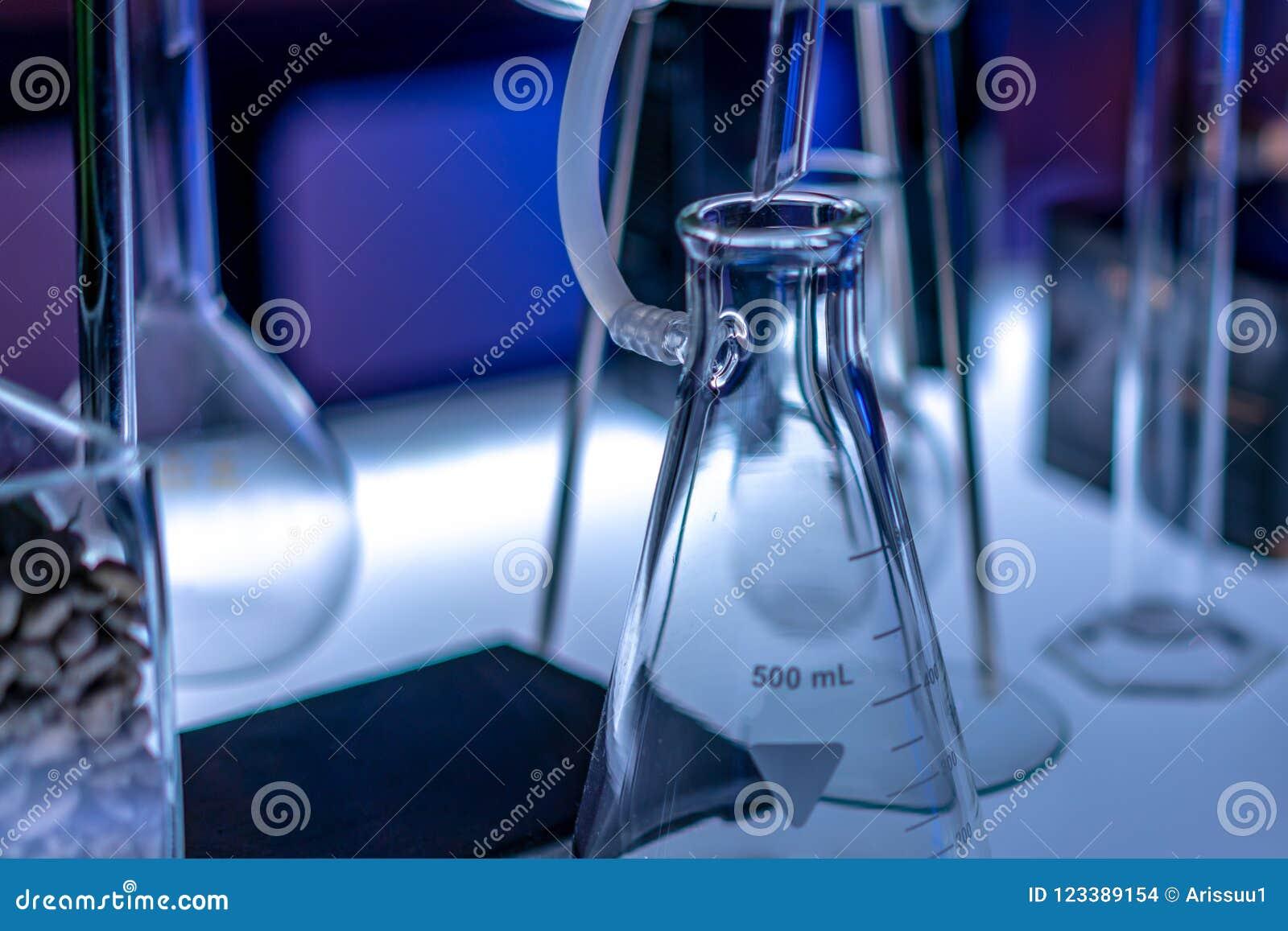 Sistema de prueba del frasco en laboratorio