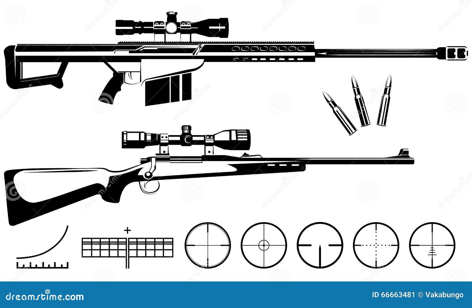 Sistema De Rifles Y De Blancos De Francotirador De Las