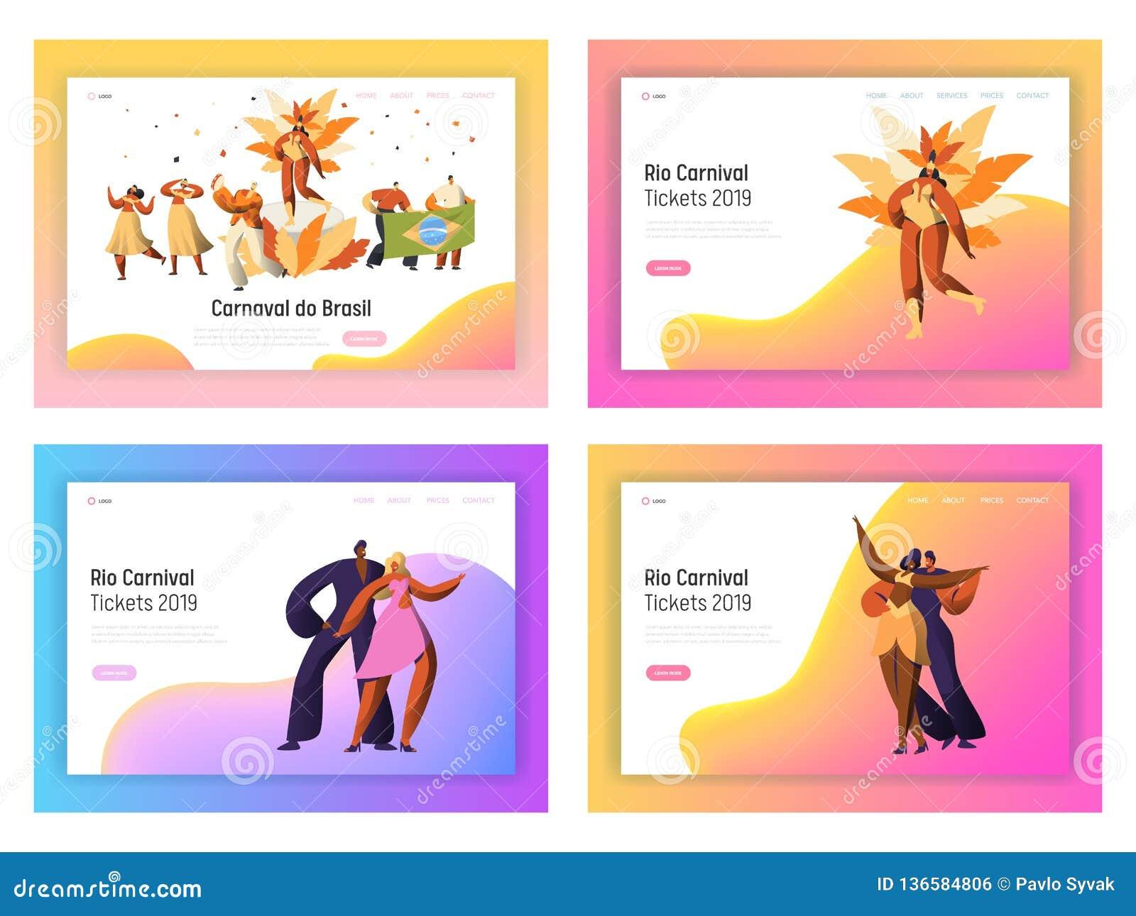 785f99e80323 Sistema De Samba Dancer Character Landing Page Del Carnaval Del ...