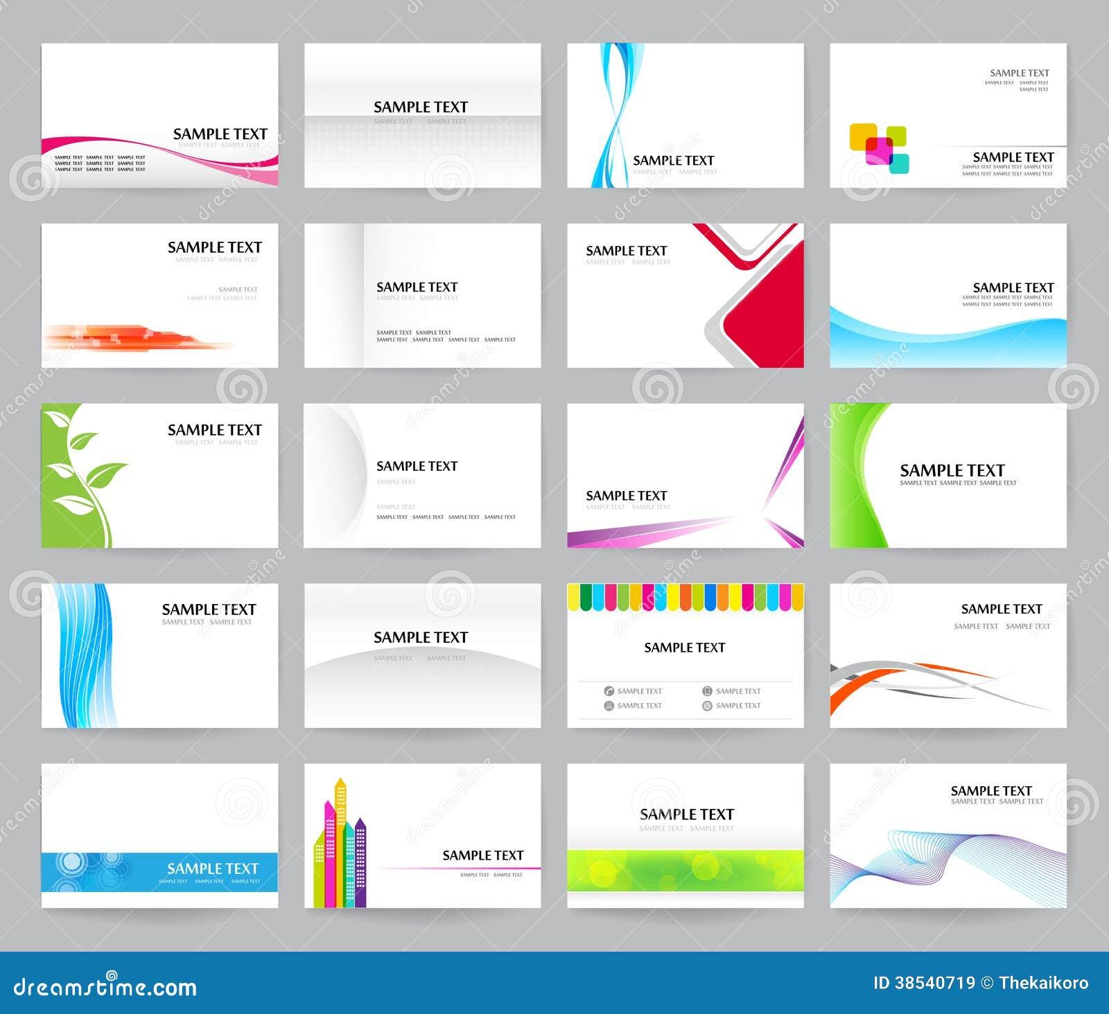 Sistema de 20 simplemente y de la tarjeta de visita clara del estilo Tem