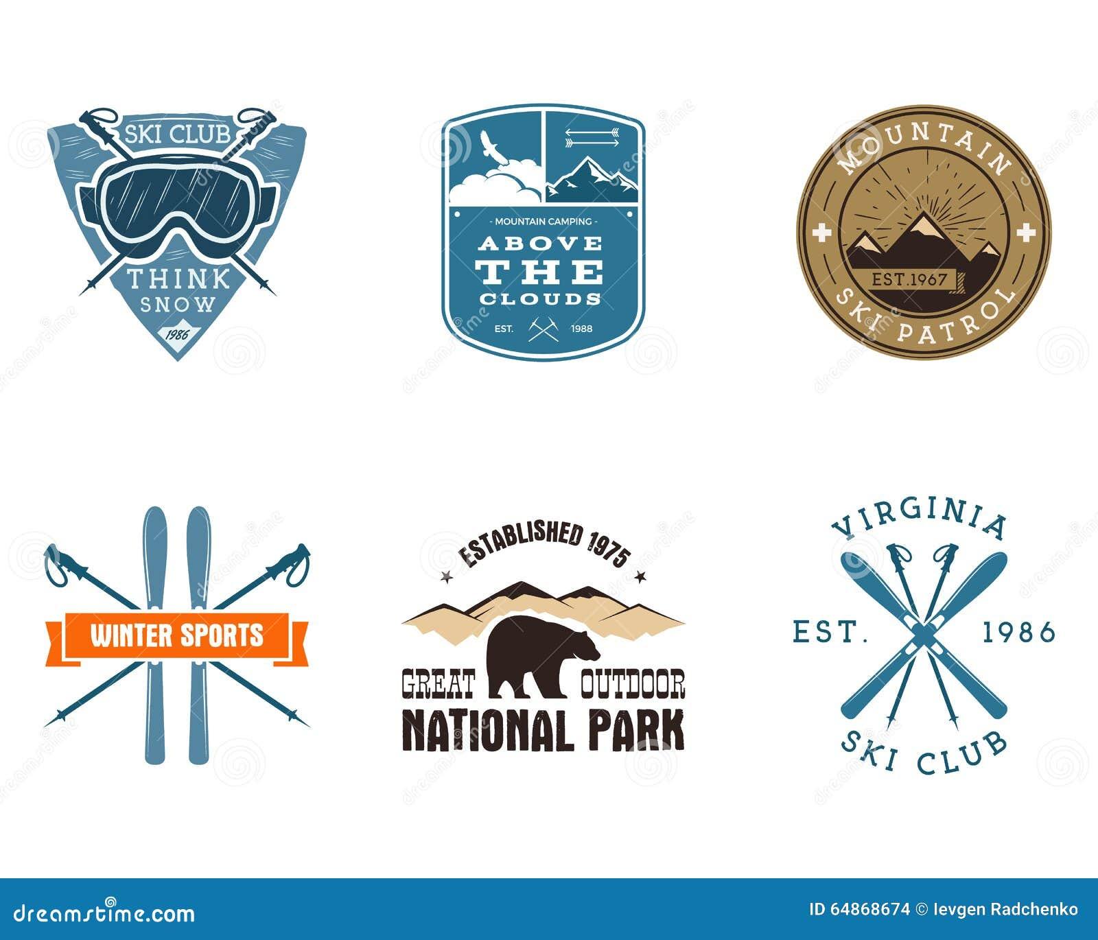 Sistema de Ski Club, etiquetas del parque nacional vendimia