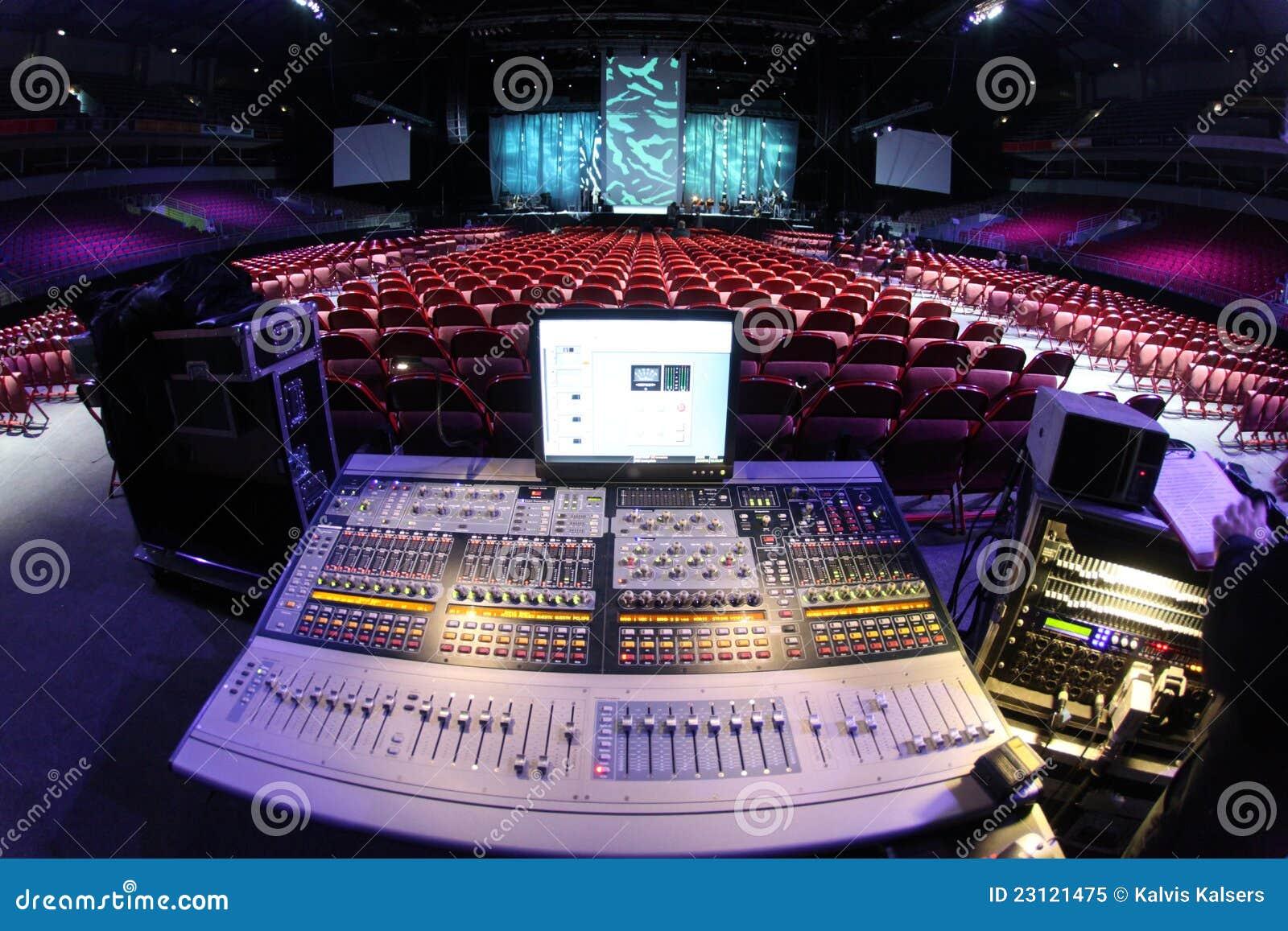 Sistema de som no concerto