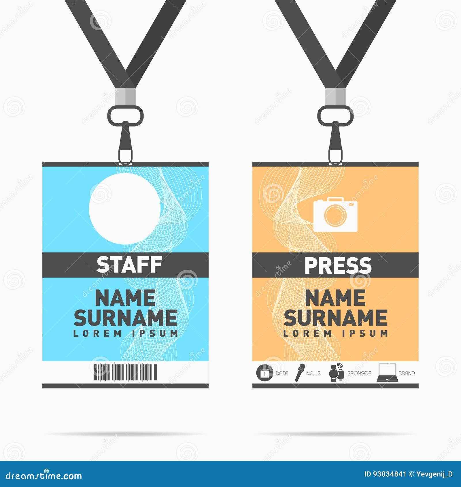Sistema De Tarjetas De La Identificación Del Personal Y De La Prensa ...