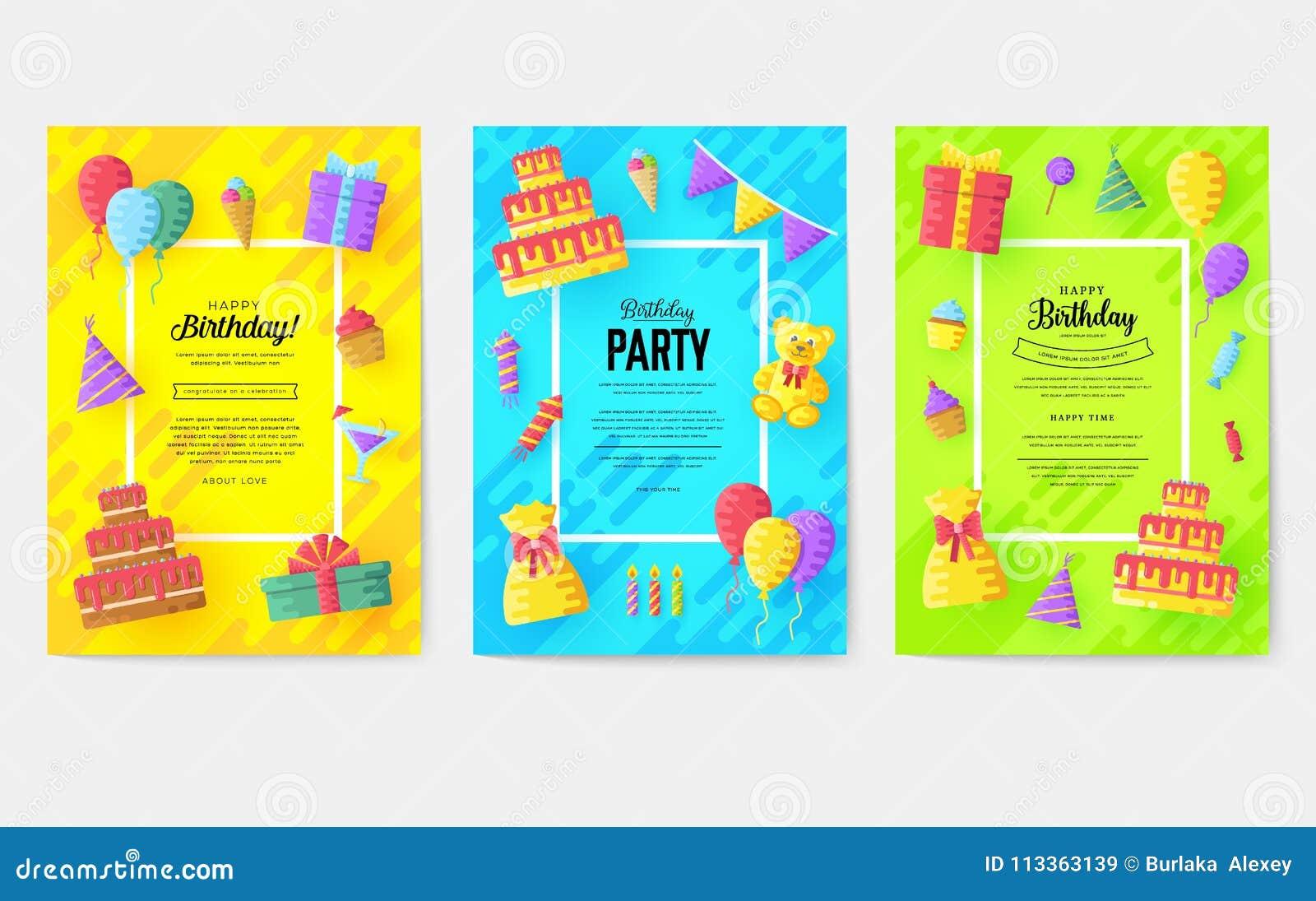 Sistema de tarjetas de información del regalo Sorprenda la plantilla de flyear, revistas, carteles, cubierta de libro, banderas C
