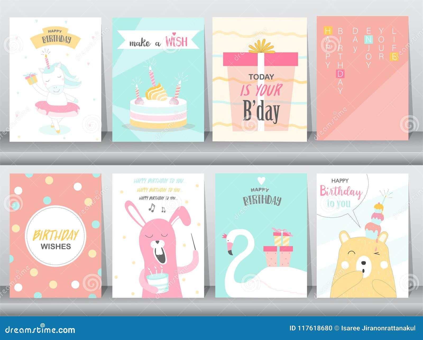 Sistema De Tarjetas De Las Invitaciones Del Cumpleaños