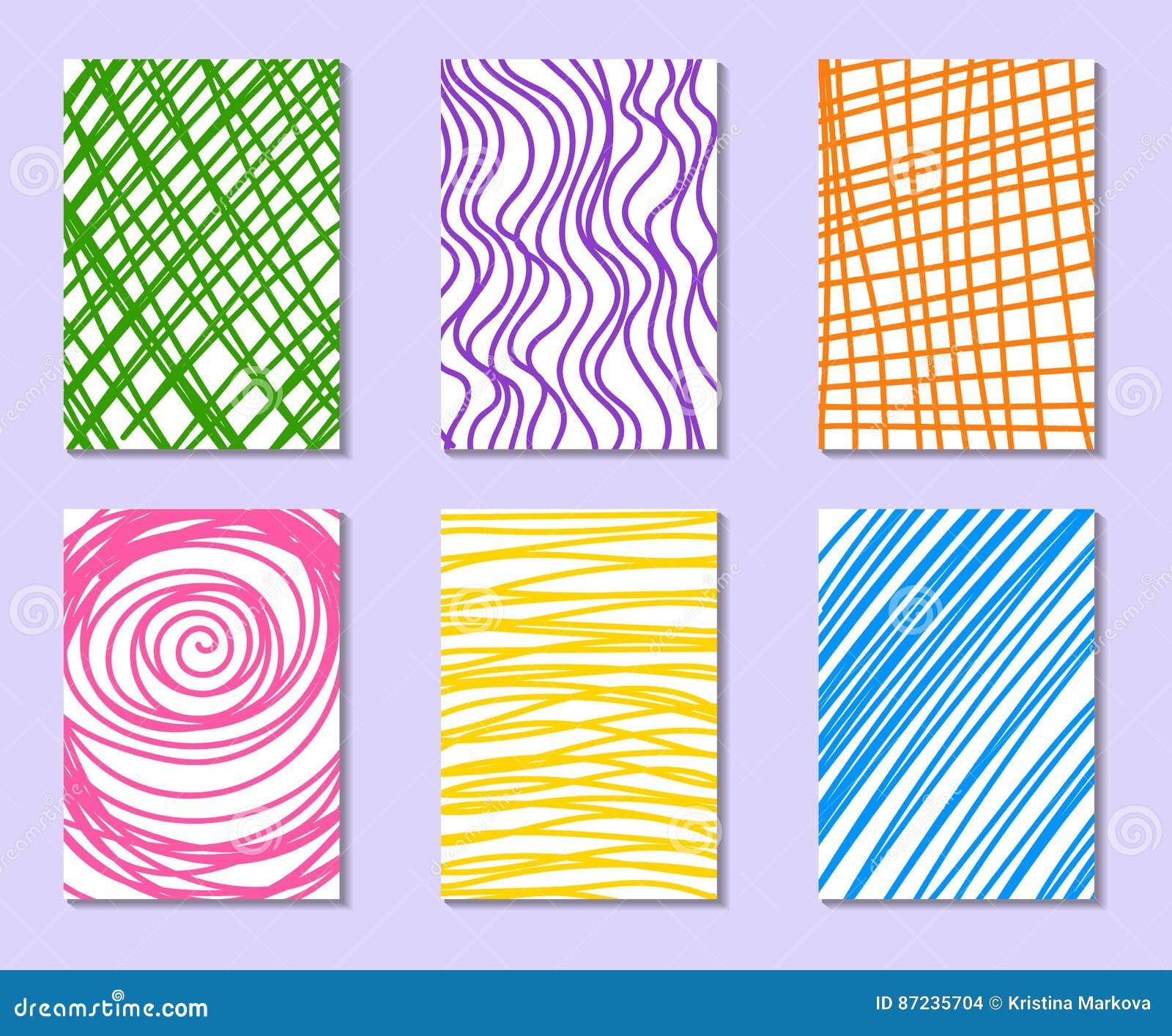 Sistema de tarjetas universales dibujadas mano