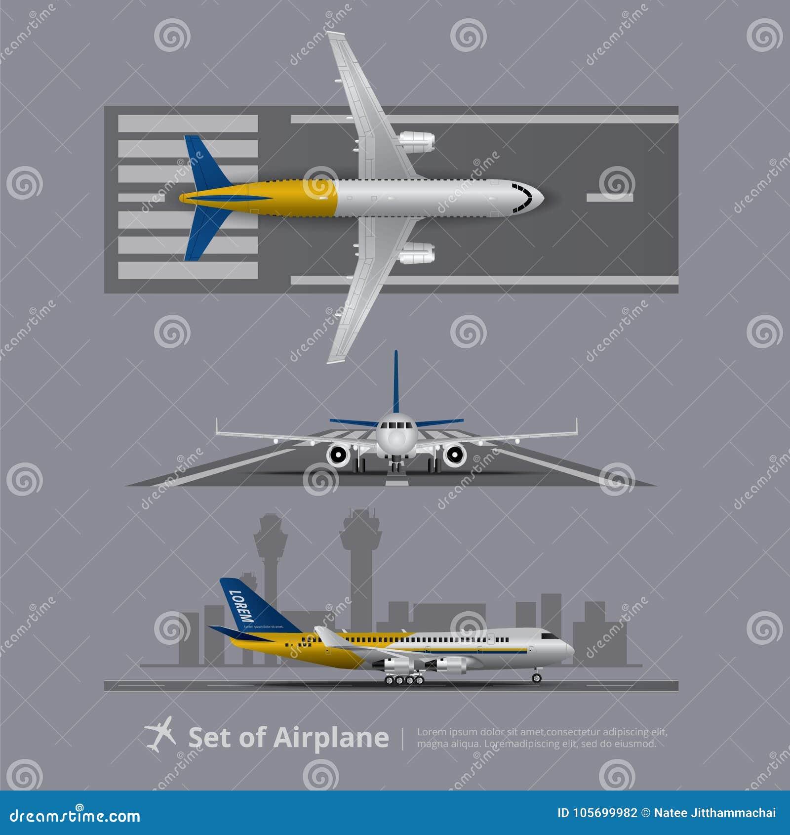 Sistema del aeroplano en pista