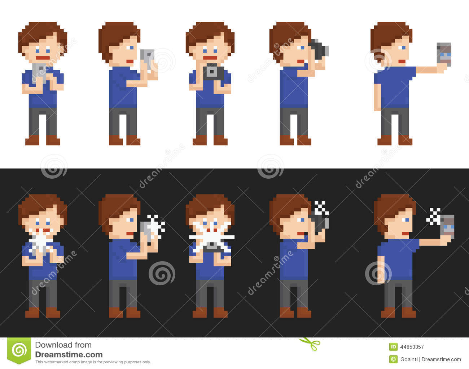 Sistema del arte del pixel de la persona que hace imágenes