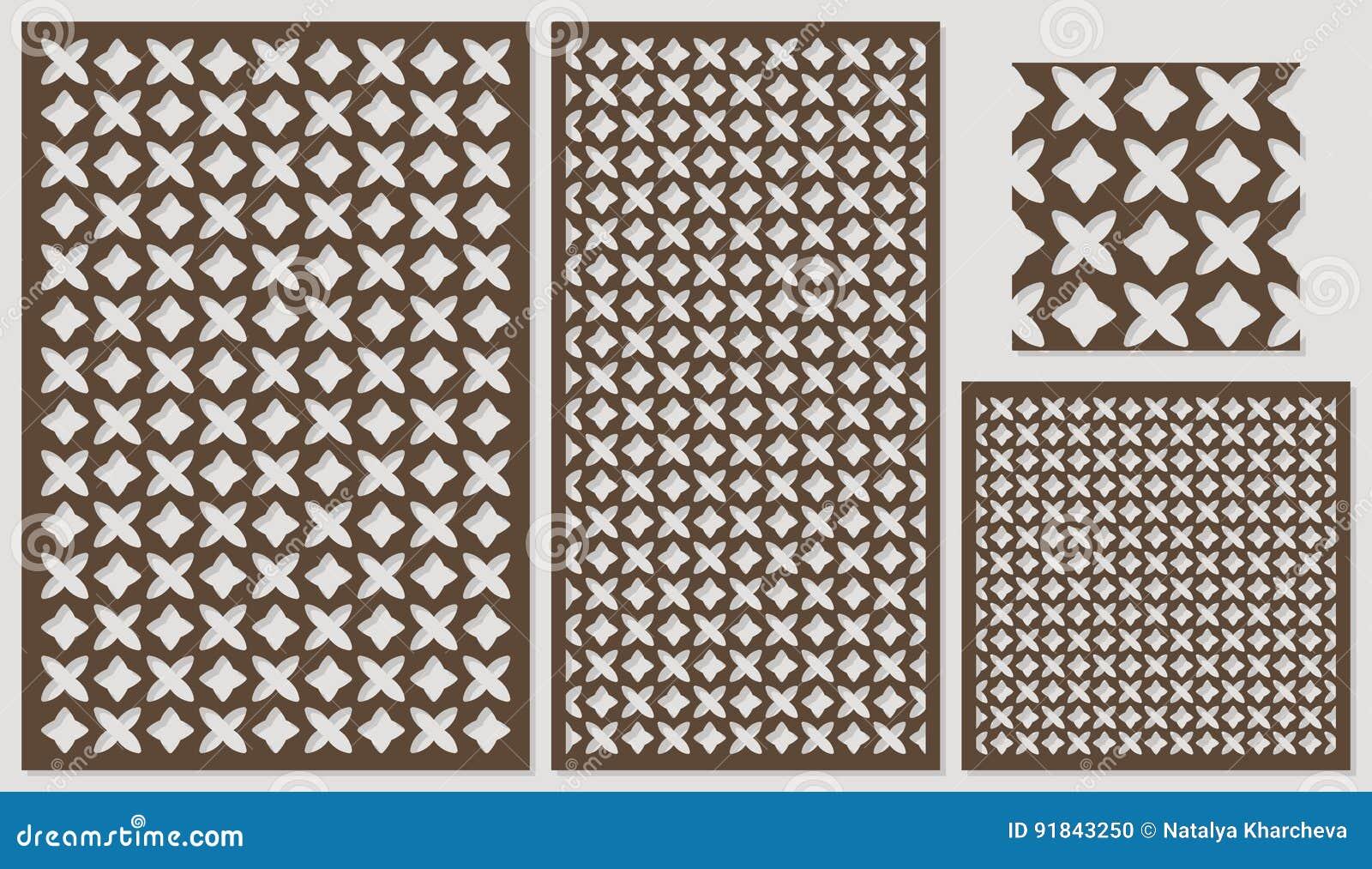 sistema del corte decorativo del laser de los paneles un panel de madera modelo de repeticin