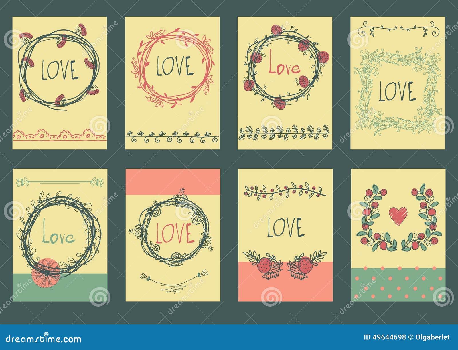 Sistema Del Diseño De La Plantilla Para El Amor De La Tarjeta De ...