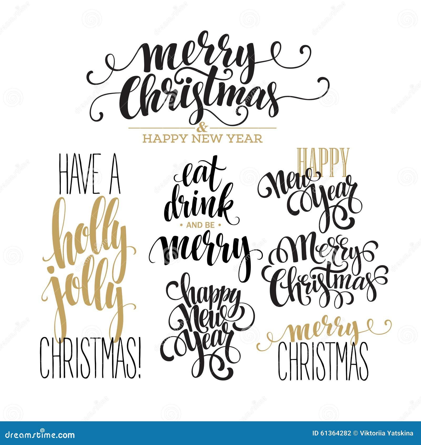 sistema del dise o de letras de la feliz navidad vector