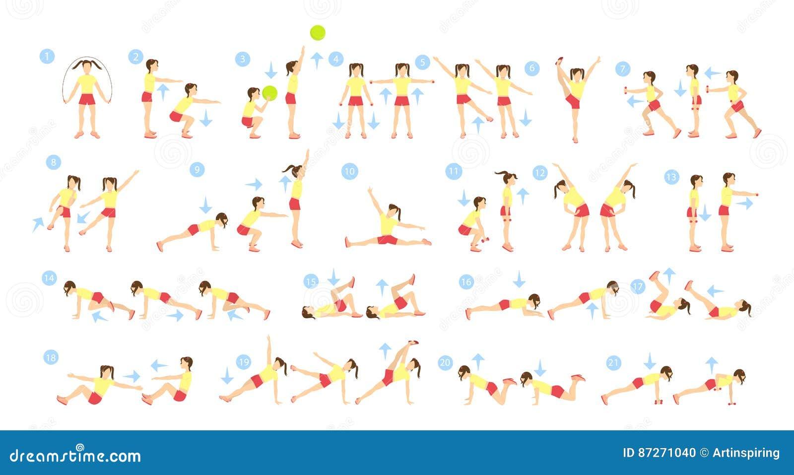 Sistema del entrenamiento de los niños