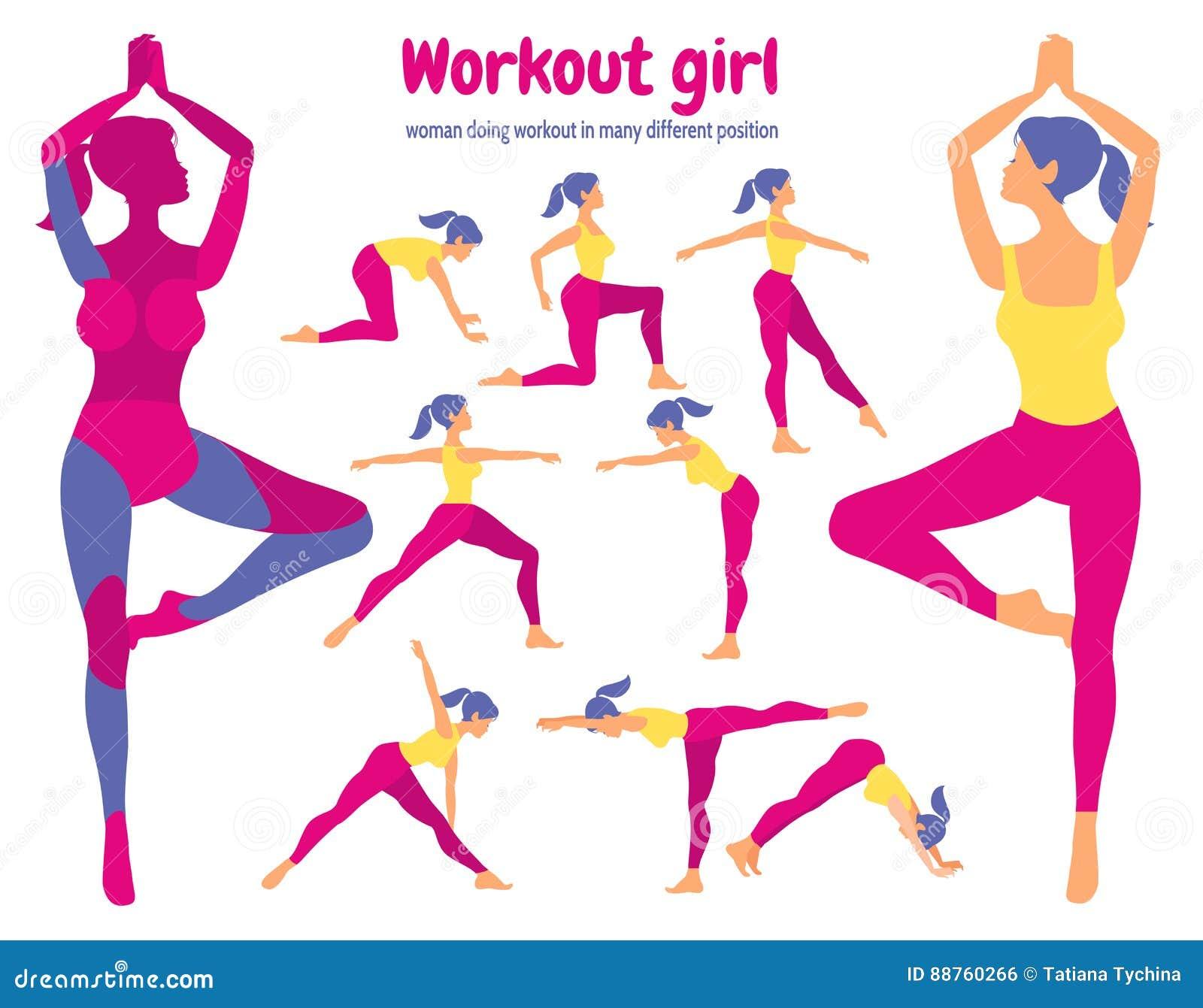 Sistema del entrenamiento del cuerpo Paquete de partes del cuerpo Mujer que hace aptitud