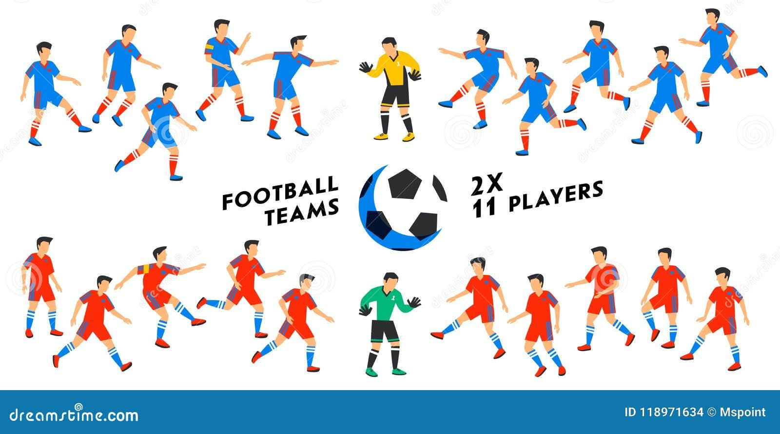 Por Qué Se Juega Al Fútbol Con 11 Jugadores Por Equipo: Sistema Del Equipo De Fútbol Dos Equipos De Fútbol