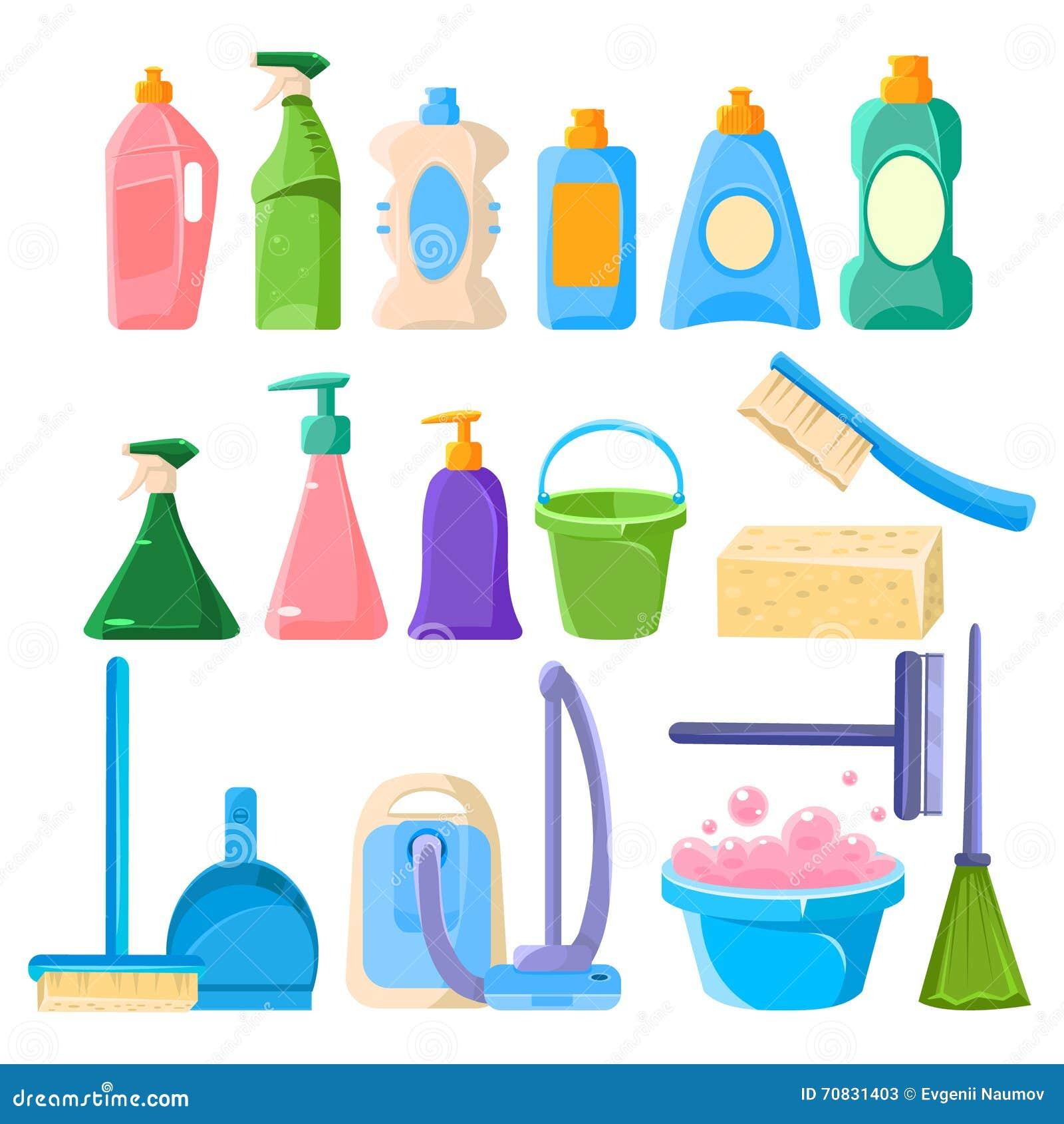 Sistema del equipo de la limpieza del hogar ilustraci n for Todo el diseno del hogar