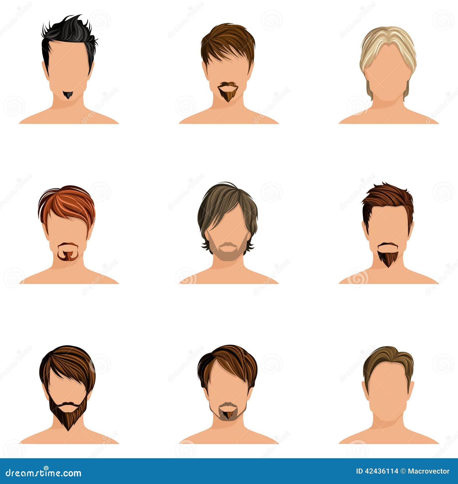 Sistema del estilo de pelo del hombre
