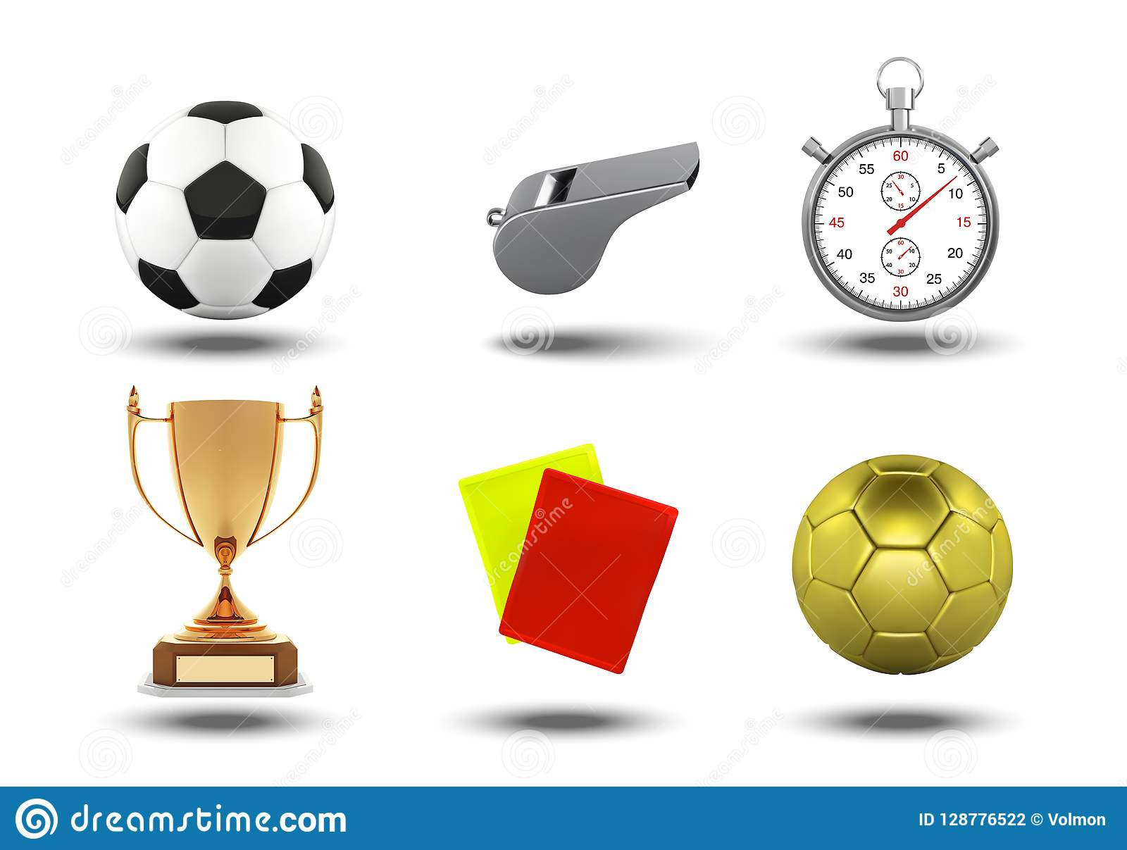 Sistema Del Fútbol De Iconos Con La Tarjeta Roja De Los Objetos b18be97c39f41