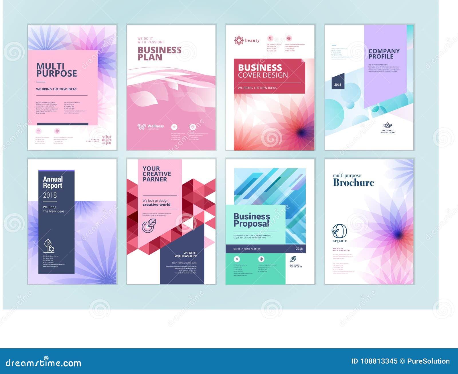Sistema Del Folleto De La Belleza, Informe Anual, Plantillas Del ...